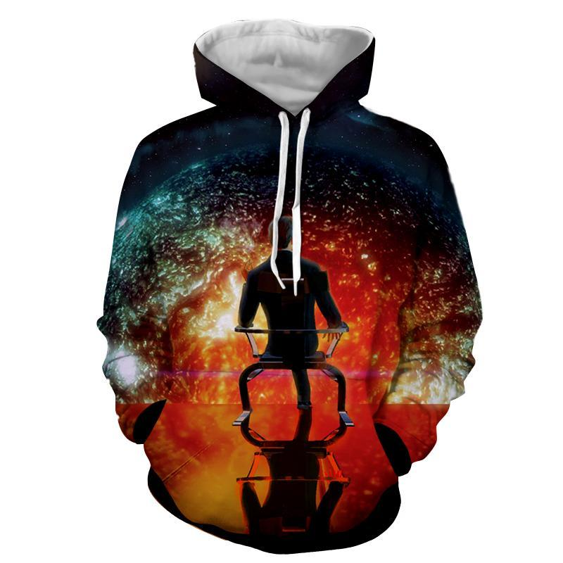 Mass Effect - Illusive Man  Printed Hoodie
