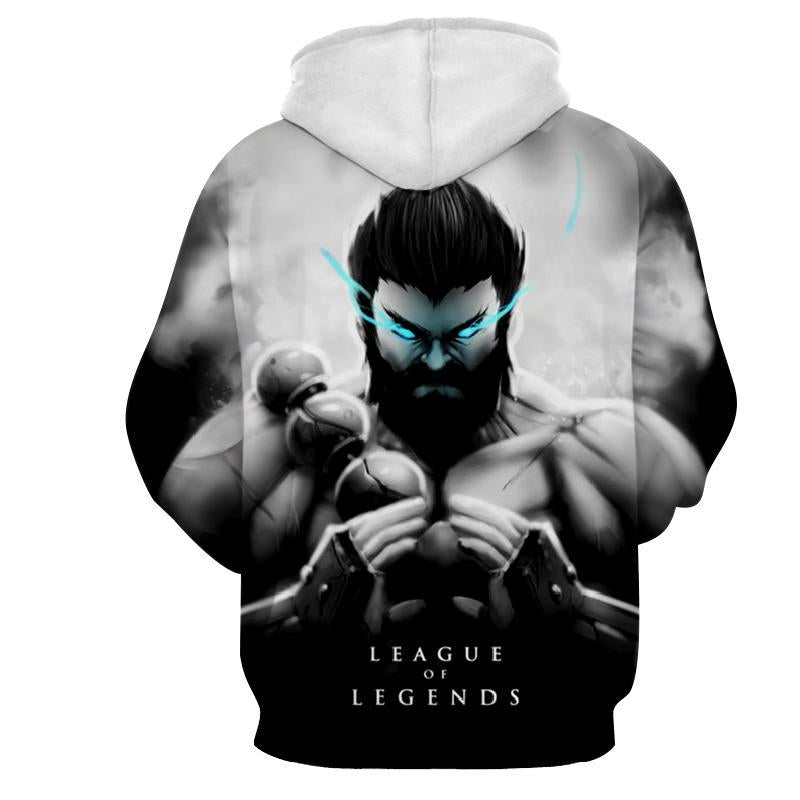 League Of Legends- Udyr : Printed Hoodie - Anime Wise