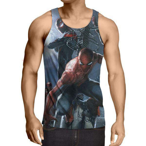 3D Printed SplitDouble Spiderman Tank Top - S