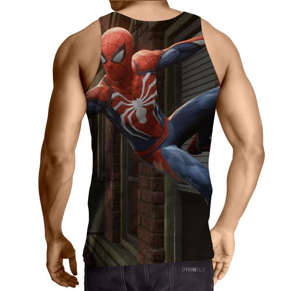 Spiderman Web 3D Printed Tank Top - Anime Wise
