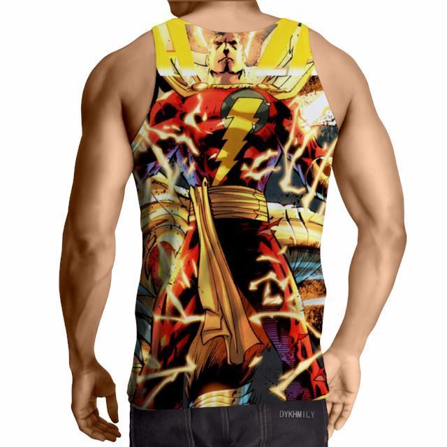 Amazing Shazam 3D Printed Tank Top - Anime Wise