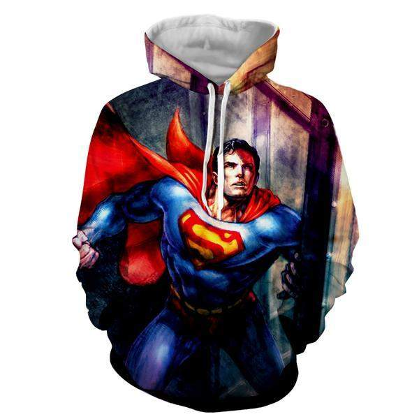 Superman Crimson 3D Printed Superman Hoodie