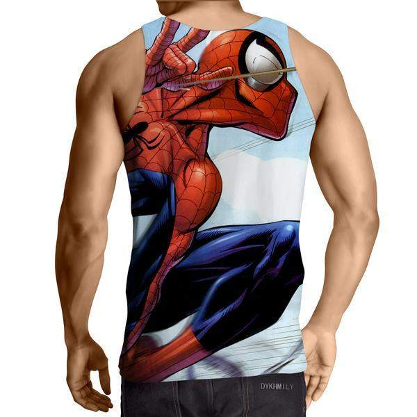 Spiderman Animated 3D Printed Tank Top - Anime Wise
