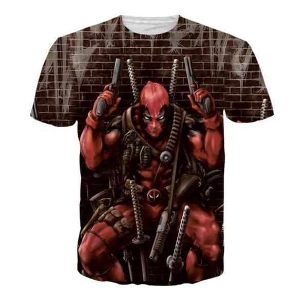 Bovine Attack Deadpool 3D PrintedT-Shirt