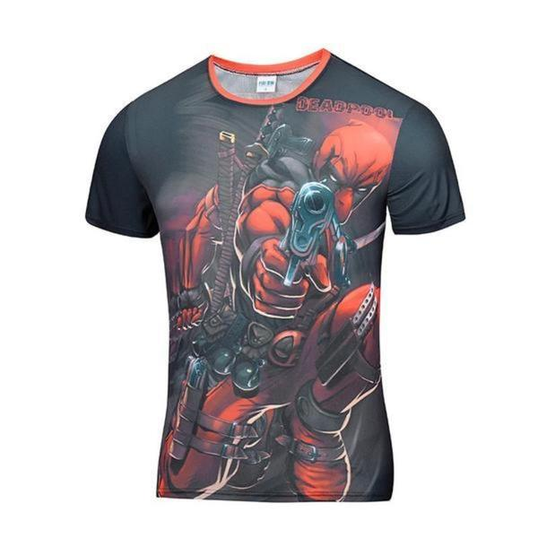 Flux Capacitor Style Deadpool 3D Printed T-Shirt