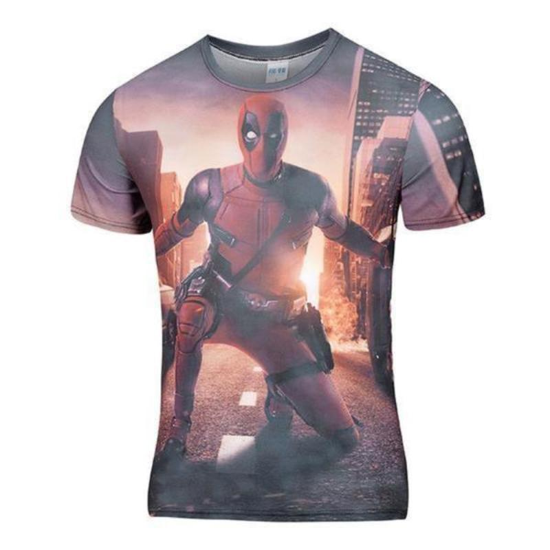 Hipster Deadpool Retro Style  T-Shirt
