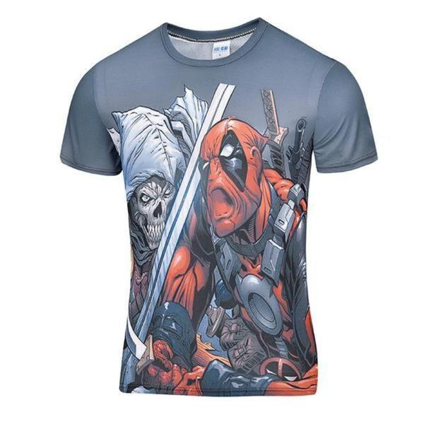Deadpool Death Skull Crossover 3D Printed T-Shirt