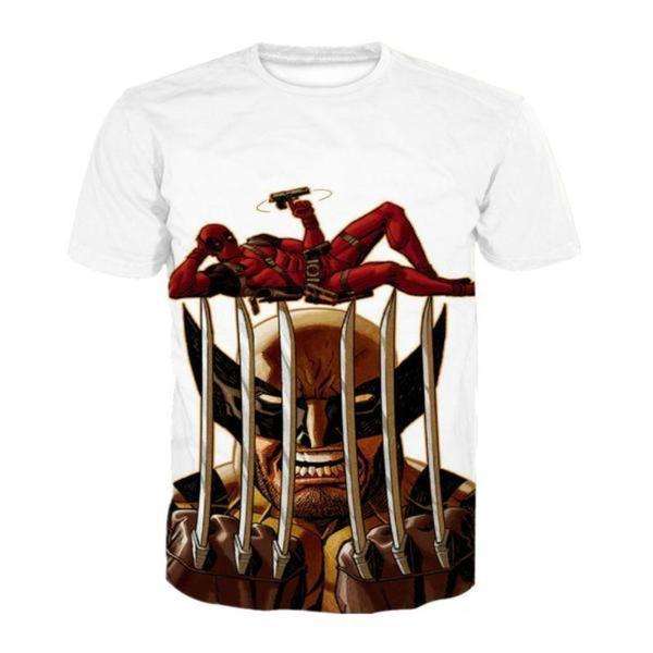 Deadpool Wolverine Fun Style 3D Printed T-Shirt
