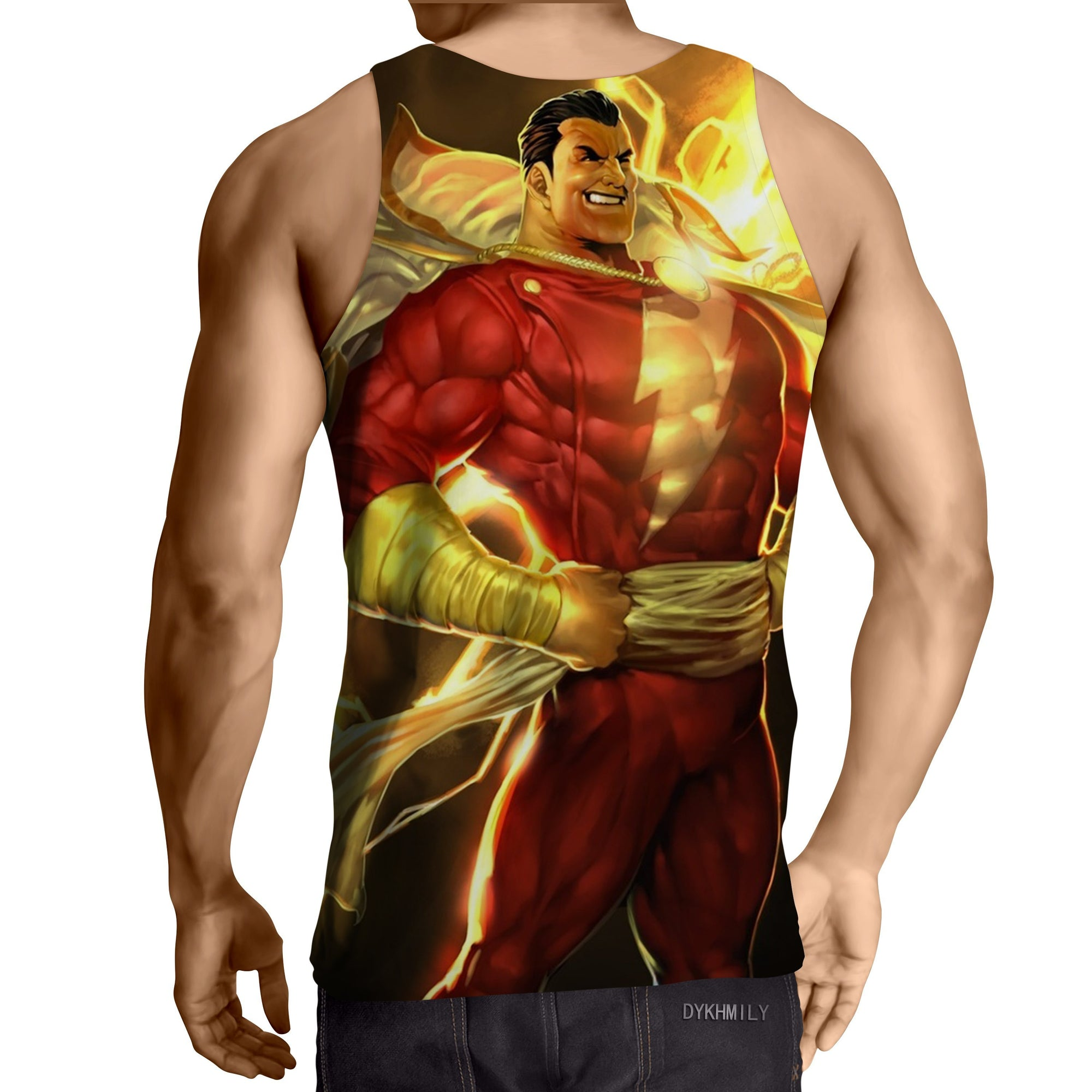 Bold Shazam 3D Printed Tank Top - Anime Wise