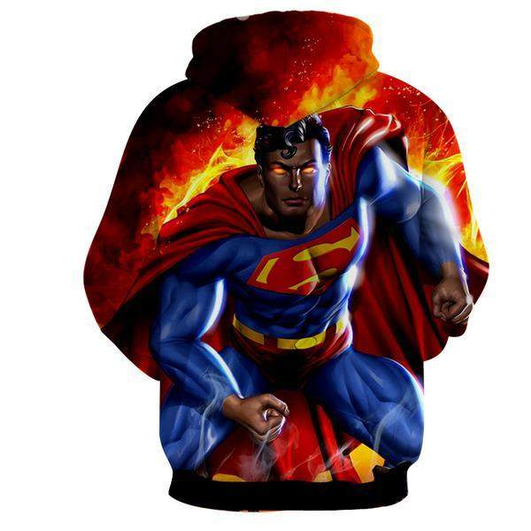 Superman Lazer Action 3D Printed Superman Hoodie - Anime Wise