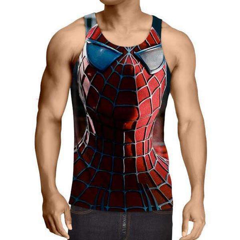 Action Pick Spiderman 3D Printed Tank Top - Anime Wise