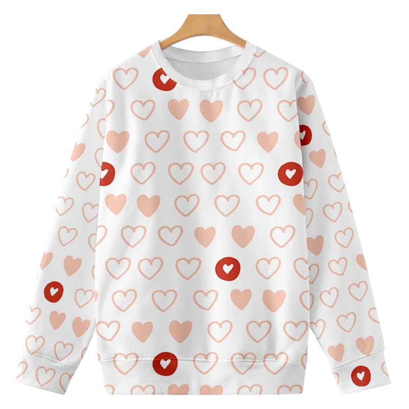 A Perfect Love Dram Space Hearts Brushed Sweatshirt