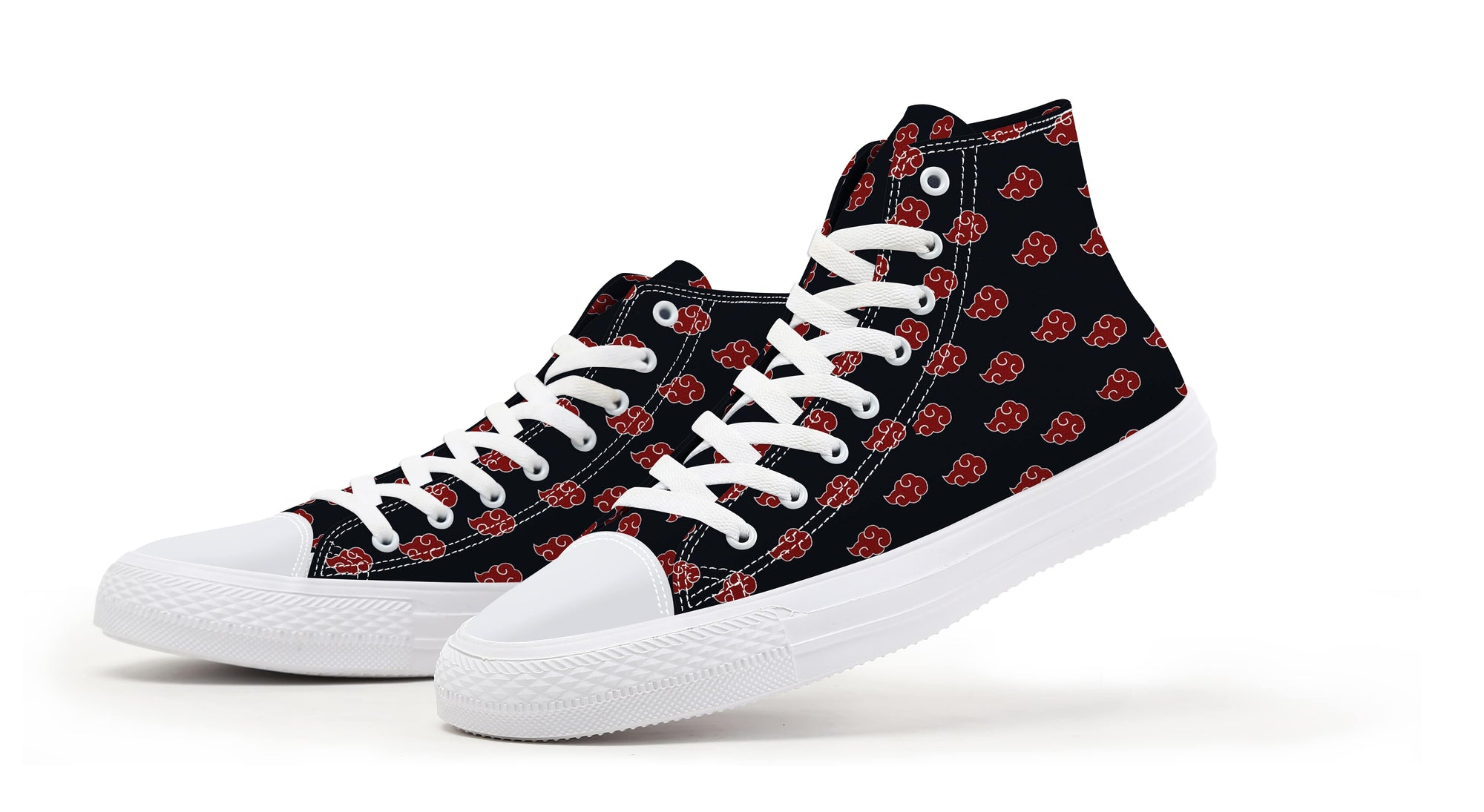 Akatsuki Classic Floating Clouds Pattern Naruto Shoes