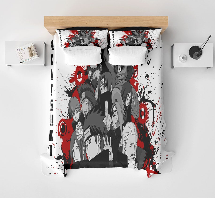 Akatsuki Cool Premium Brushed Paint Art Microfiber Naruto Bedding