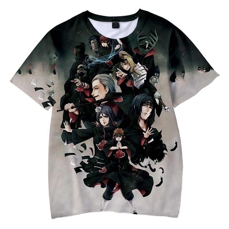 Akatsuki Double Brushed Members Color Crossover Art Naruto T-Shirt