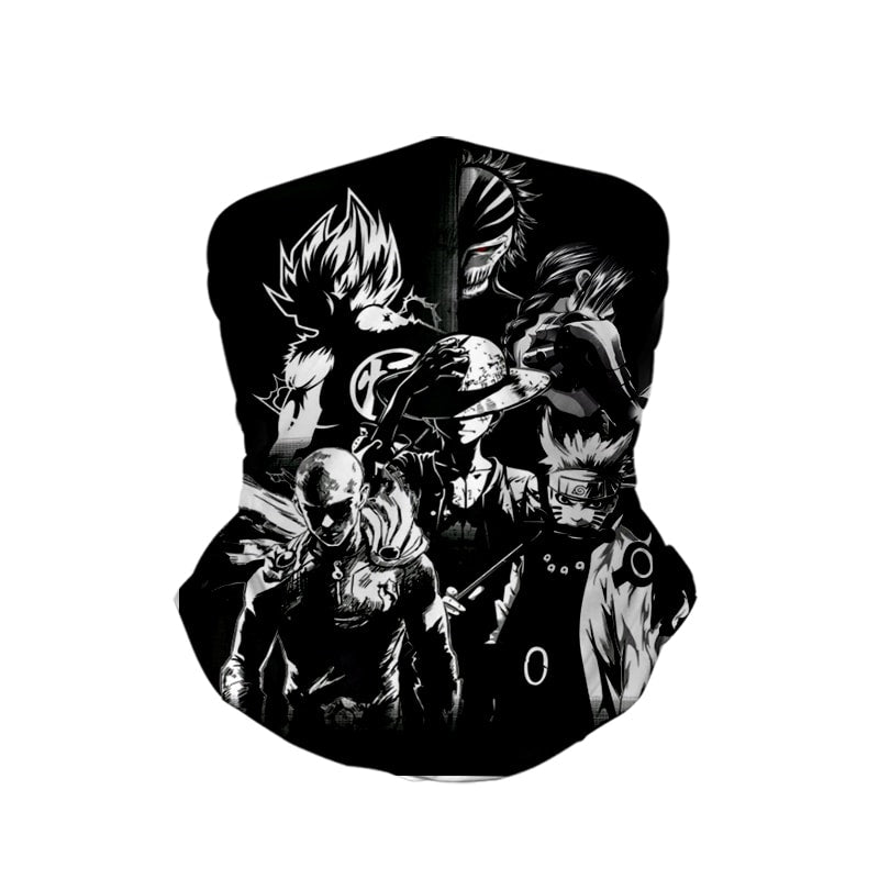 All Anime Legends DBZ Naruto Neck Gaiter Face Shield Bandanna Scarf