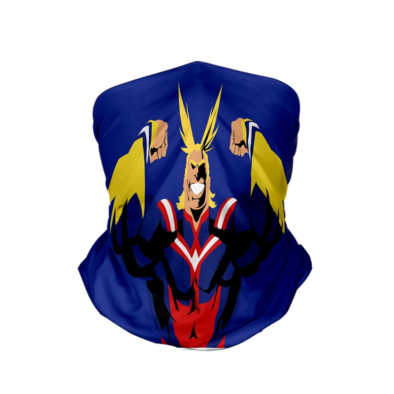All Might One For All Cool My Hero Academia Neck Gaiter Face Shield Bandanna Scarf