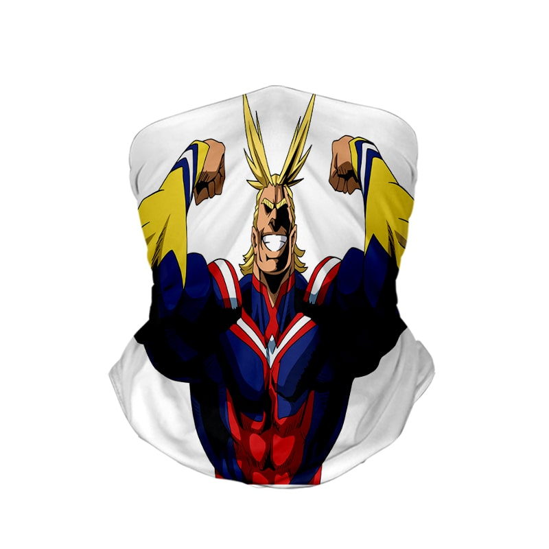 All Might Power Up BNHA My Hero Academia Neck Gaiter Face Shield Bandanna Scarf