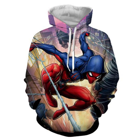 Marvel Spidrman New Tech 3D Printed Web Hoodie