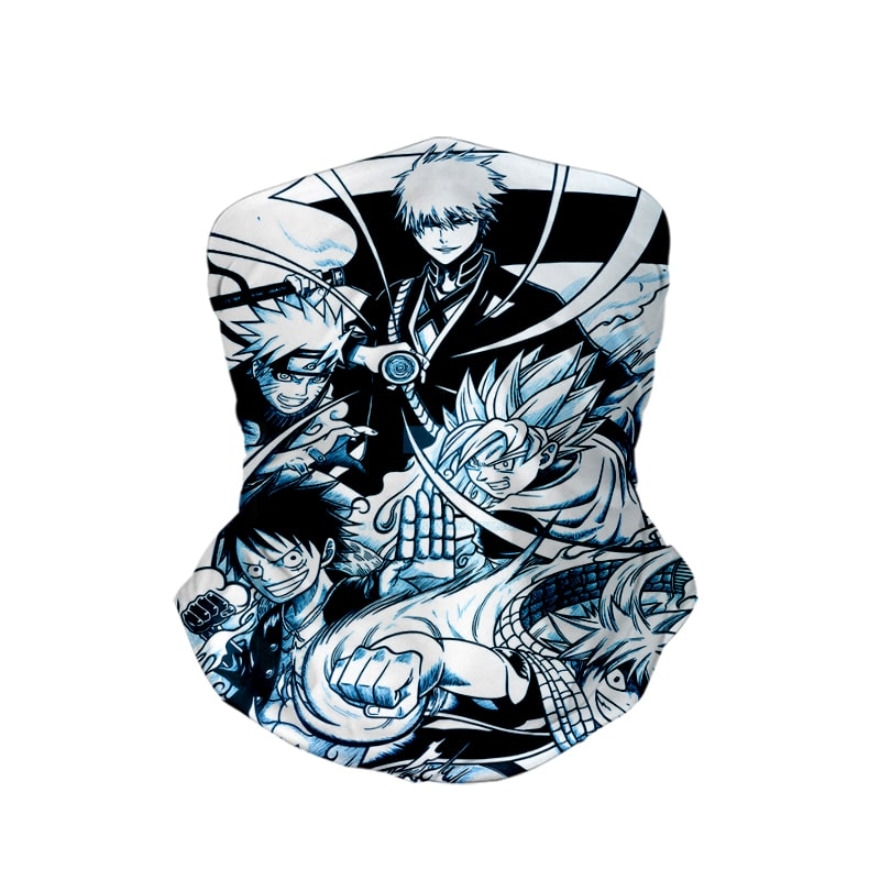 Anime Legends Sketch Crossover Neck Gaiter Face Shield Bandanna Scarf