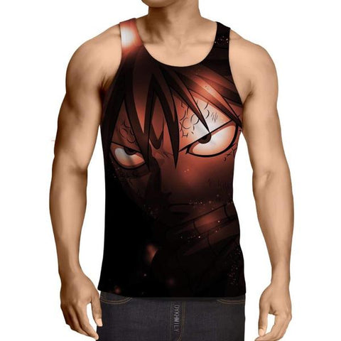 Black Face Natsu Fairy Tail Fairy Tail Tank Top - Anime Wise