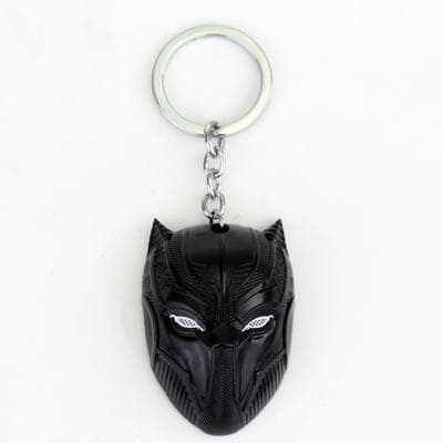 Black Panther Skull Metal Plated Mask Keychain - Anime Wise