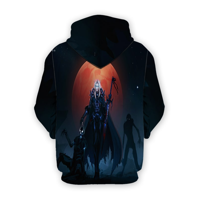 Blood Elf Death Knight World Of Warcraft 3D Printed Hoodie
