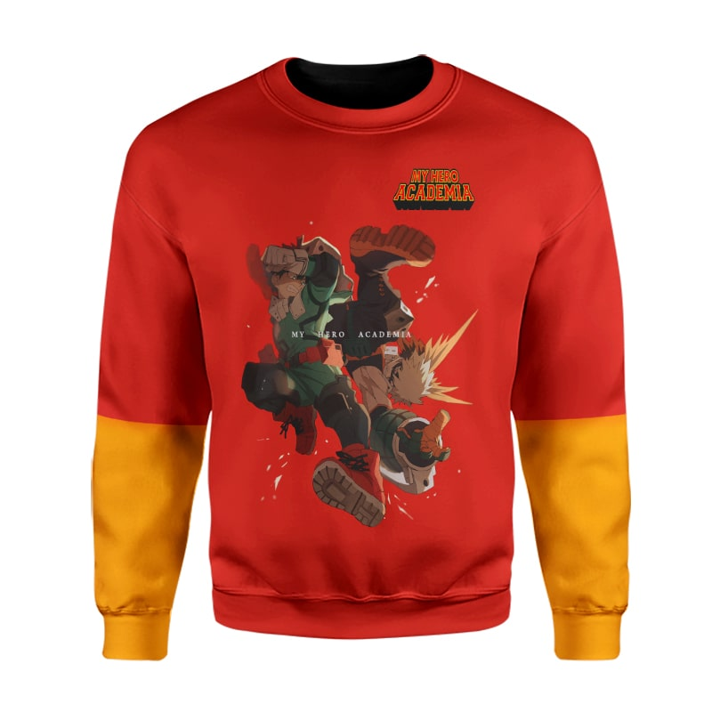 My Hero Academia Bokugo Katsuki Izuku Red Attack BNHA Sweatshirt