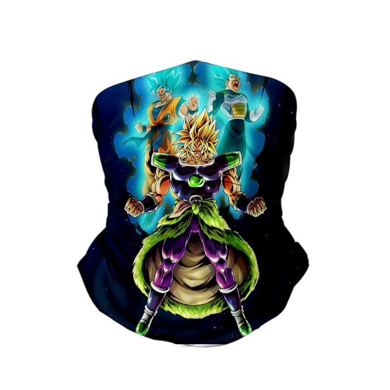 Broly Goku Vegeta Ultra Soft Solid Super Saiyan Legend Neck Gaiter Face Shield Bandanna Scarf