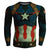 Captain America Shirt Nudiustertian 3D Printed Long Sleeve Shirt