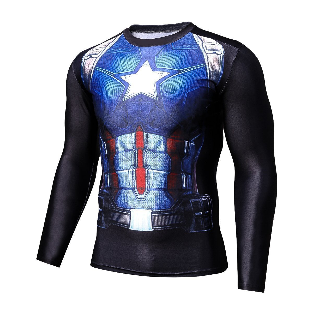 Captain America Shirt Verbalisation Long Sleeve Shirt 3D Printed