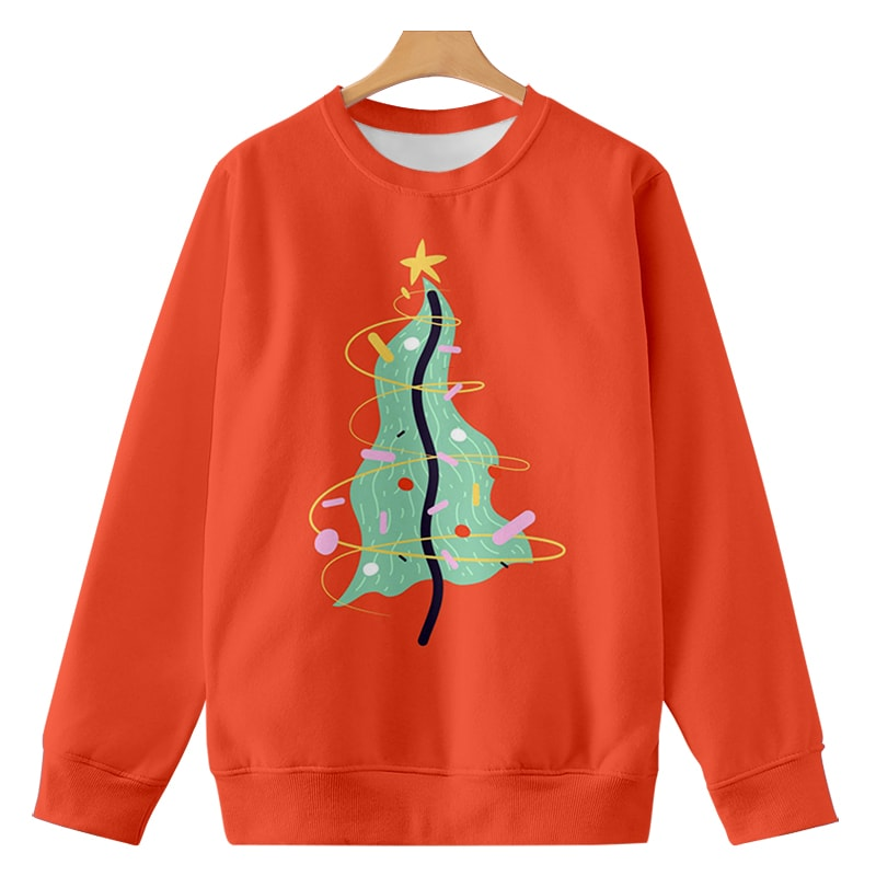 Christmas Tree Seamless Art Dream Brushed Cool Sweatshirt