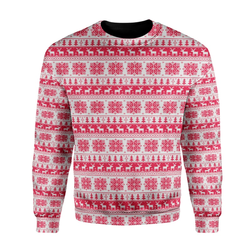 Christmas Cool Moose Pattern Design X-Mas Sweatshirt