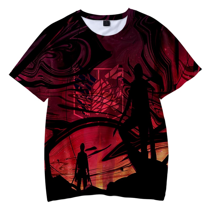 Attack on Titan Color Overlap Freedom Wing Shingeki no Kyojin T-Shirt