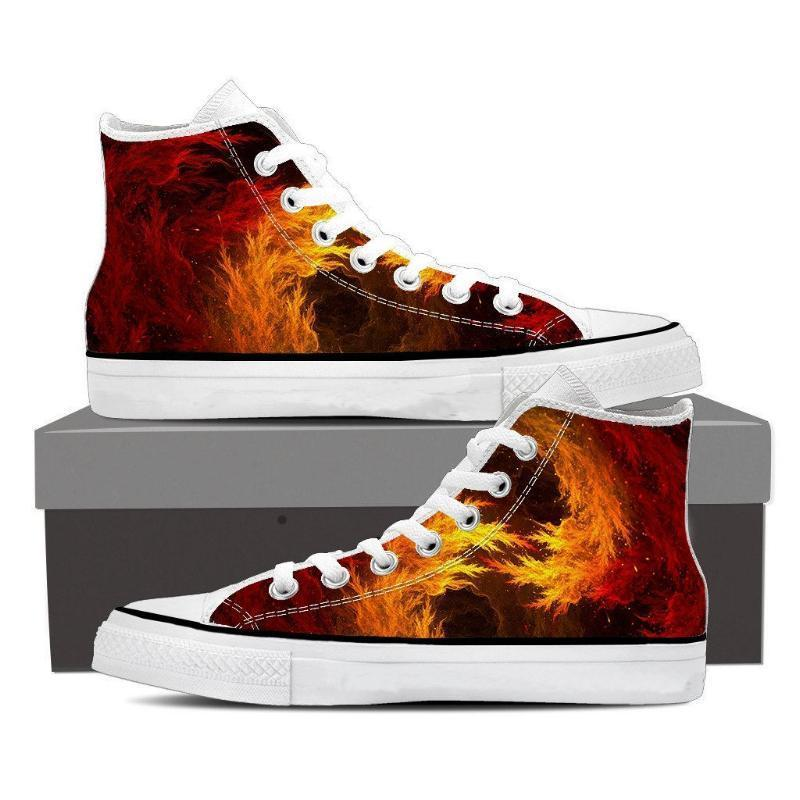 Super Saiyan Cool Fiery Themed Anime Shoes - Anime Wise