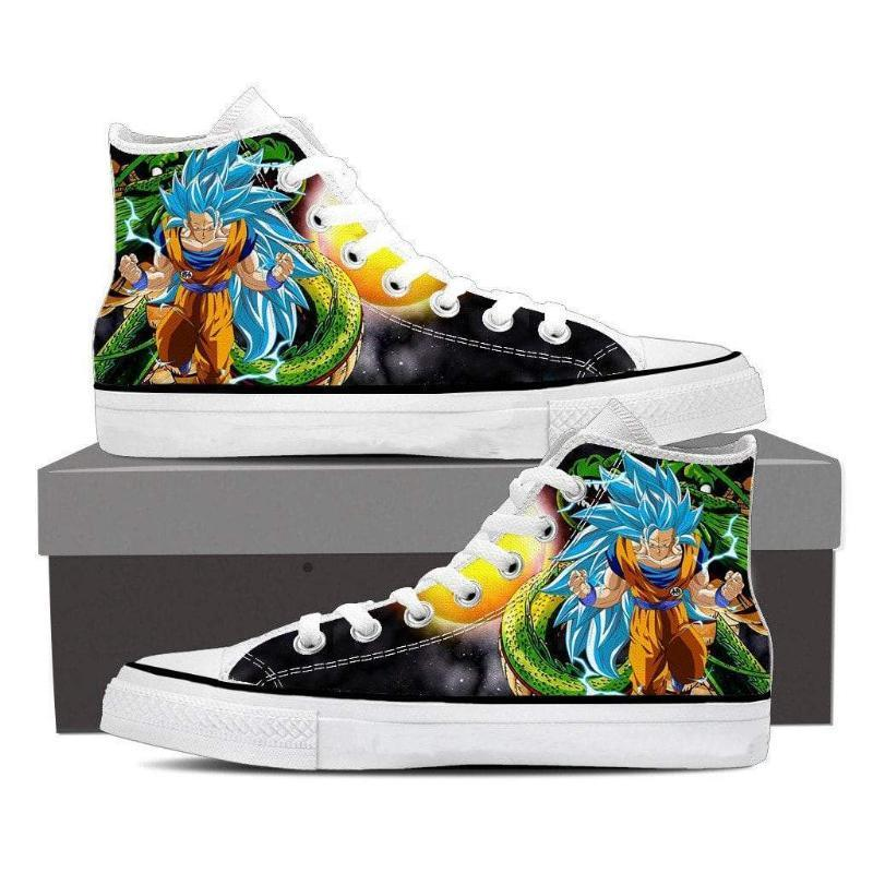 Super Saiyan Anime SSJ3 Blue Dragon Goku Shoes - Anime Wise