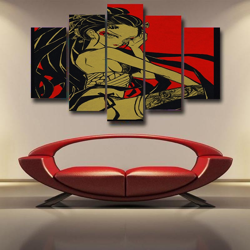 Daki Demon Color Crossover  Demon Slayer: Kimetsu no Yaiba 3D Canvas