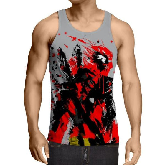 Deadpool Abstract 3D Printed Painted Art Tank Top