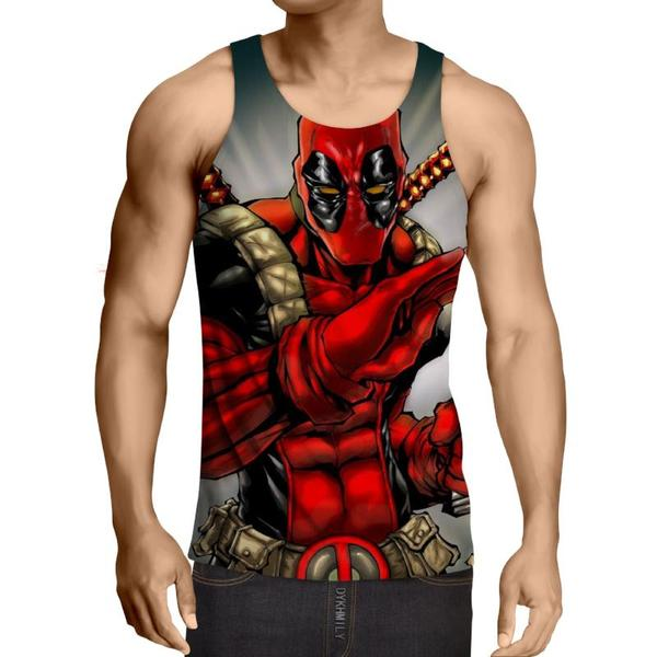Deadpool Ninja Style 3D Printed Tank Top - Anime Wise