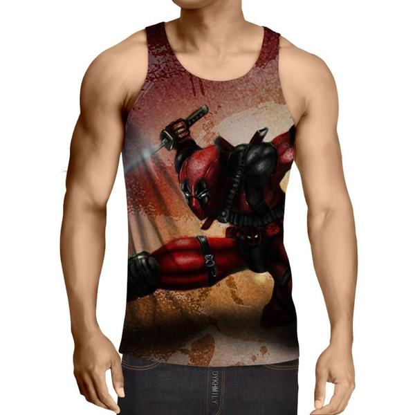 Deadpool Sword Art 3D Printed Tank Top - Anime Wise