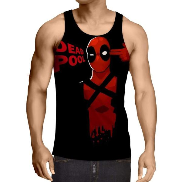 Deadpool Red Suicide Style 3D Printed Tank Top - Anime Wise