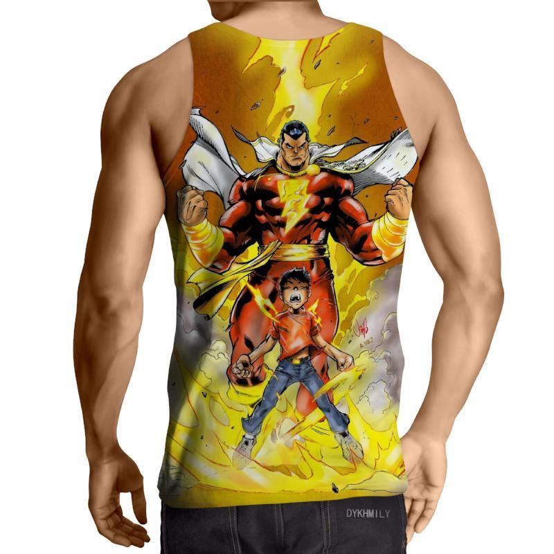 Shazam Dominant 3D Printed Shazam Tank Top - Anime Wise