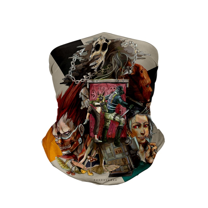 Dorohedoro Contemporary Art Dorohedoro Neck Gaiter Face Shield Bandanna Scarf