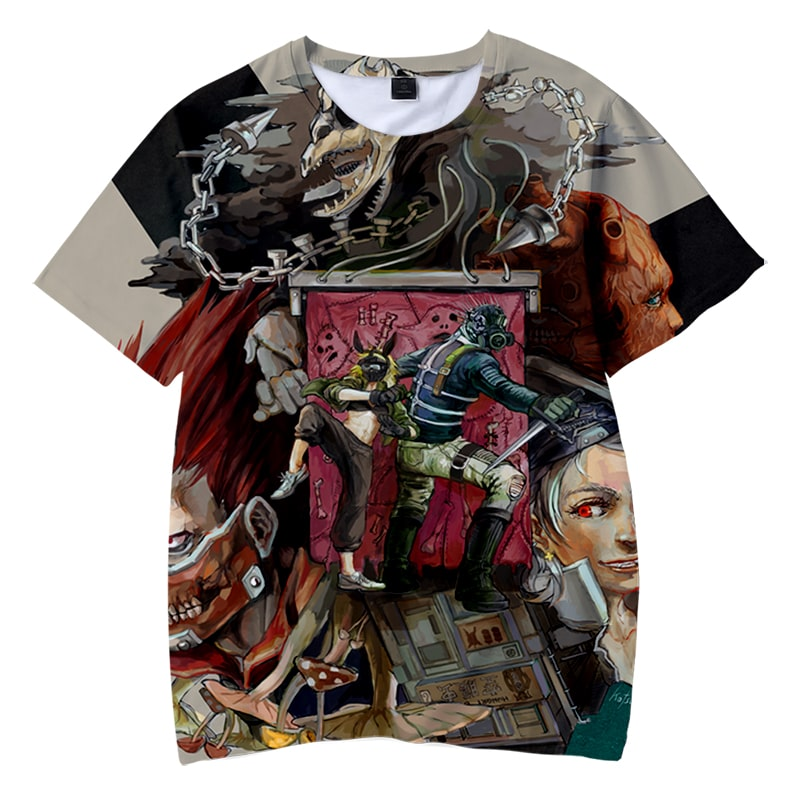 Dorohedoro Contemporary Art Casual Round Collar T-Shirt