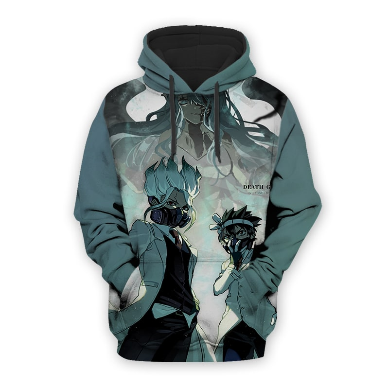 Dr. Stone Death Green Lab Cool Color Swap Dr. Stone 3D Printed Hoodie