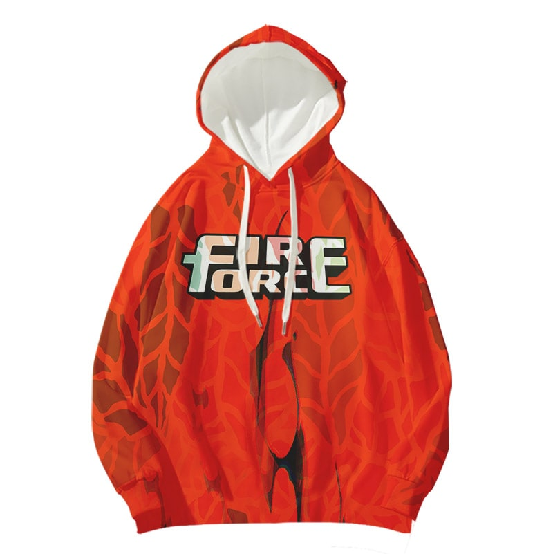 Fire Force Dream Space Leaf Pullover Double Brushed Hoodie