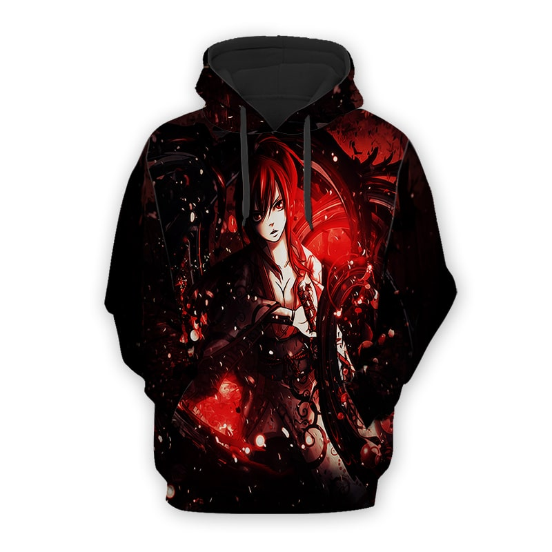 Fairy Tail Erza Scarlet Blood Magic Cool Fairy Tail Tatania Hoodie