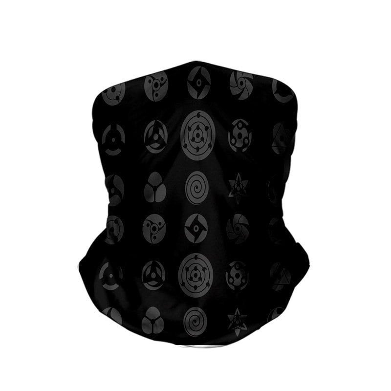 Eyes Of Uchihas Naruto Neck Gaiter Face Shield Bandanna Scarf