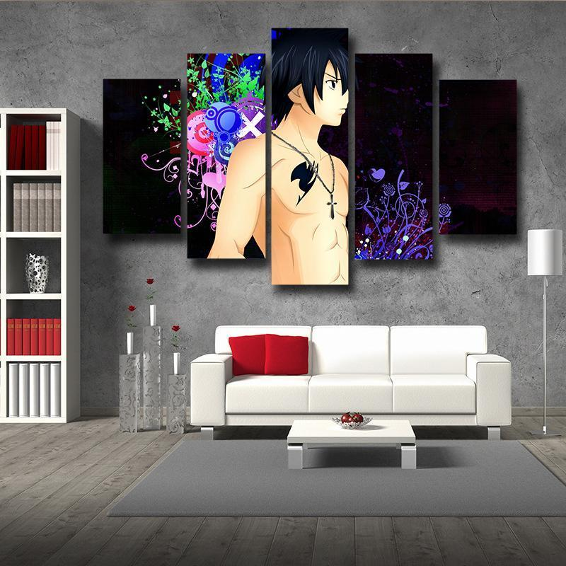 Gray Fullbuster Black Fairy Tail Canvas 3D Printed - Anime Wise