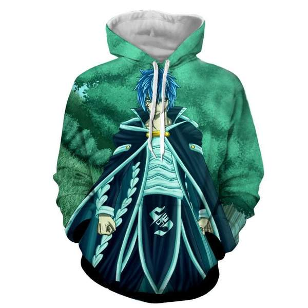 Fairy Tail Jellal Green Fairy Tail Hoodie
